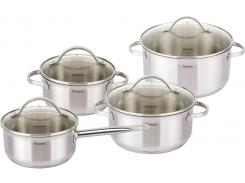 Набор кухонной посуды Fissman Gabriela 3 кастрюли и ковш с мерной шкалой (FN-SS-5816_psg)
