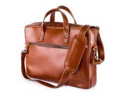 Мужская сумка для ноутбука Solier 15 - 15.4 Светло-коричневая (SL04Camel)