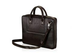 Мужская кожаная сумка для ноутбука Solier 15 - 15.6 Коричневая (SL21Brown)