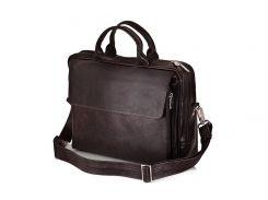 Мужская кожаная сумка для ноутбука 15 - 15.6 Solier Коричневая (SL30Brown)