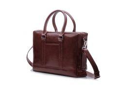 Мужская кожаная сумка для ноутбука Solier 15 - 15.6 Каштановая (SL02Maroon)