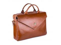Кожаная женская сумка для ноутбука Felice 15 - 15.4 Коричневая (Fl15Camel)
