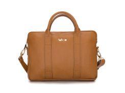 Кожаная женская сумка для ноутбука Felice 15 - 15.4 Светло-коричневая (DulceCamel)