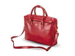 Кожаная женская сумка для ноутбука Felice 17 Красная (MarinaMaroon)