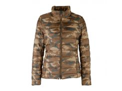 Куртка женская Geox CHOCOLATE/MULTIC 42 Коричнево-зеленый камуфляж (W3420H.AF145CHMU)
