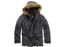 Куртка аляска Brandit Vintage Explorer BLACK L Черный (3120.2-L)