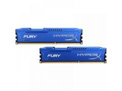 Оперативная память для компьютера DDR3 16Gb (2x8GB) 1866 MHz HyperX Fury Blu Kingston HX318C10FK2/16 (U0072830)