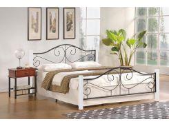 Кровать Halmar VIOLETTA 140х200 Черно-белый (003753)