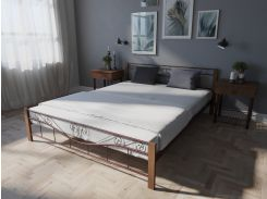 Кровать MELBI Эмили Двуспальная  180*190 см Бордовый лак (КМ-011-02-7бор)