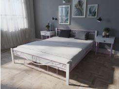 Кровать MELBI Эмили Двуспальная  180*190 см Розовый (КМ-011-02-7роз)