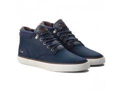 Мужские высокие кроссовки Lacoste 41 Синие (1510663-41)