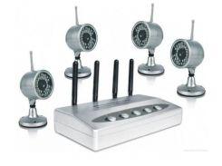 Комплект видеонаблюдения Hamy SC-39 беспроводной на 4 камеры Серый (100439)