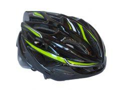 Велосипедный шлем NB FT-58-1 53-58 см Черно-зеленый (80840238)