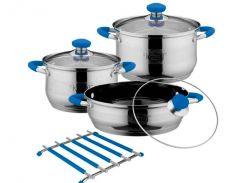 Набір посуду з нерж. сталі 7пр. (26-242-010) Krauff Сріблястий (95123)