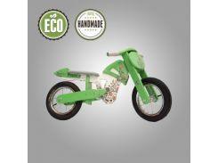Велобег деревянный Solid Design Flinstoun зеленый