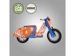 Велобег деревянный Solid Design Sofia синий