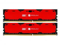 Оперативная память Goodram IRDM 16GB (2x8GB) Red IR-R2400D464L15S/16GDC (F00148196)