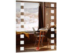 Красивое зеркало led c подсветкой Brasica 80х60х3 см (1005-d26-80х60х3)