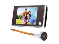 Видеоглазок дверной беспроводной Kivos SF 515, 3.5 дюймовый экран Черный (100082)
