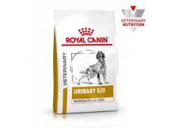 Сухой корм Royal Canin Urinary S/O Moderate Calorie при мочекаменной болезни у собак с лишним весом, 12 кг