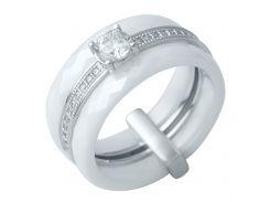 Серебряное кольцо Silver Breeze с керамикой 17 размер (0481630)