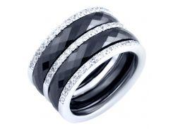 Серебряное кольцо Silver Breeze с керамикой 18 размер (1903889-18)