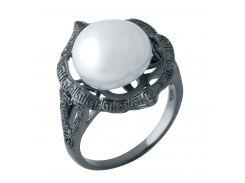 Серебряное кольцо Silver Breeze с натуральным жемчугом 17.5 размер (1956991)