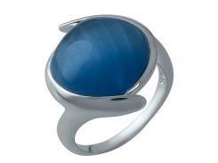 Серебряное кольцо Silver Breeze с кошачьим глазом 17.5 размер (1984550)