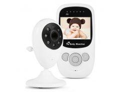 Беспроводная видеоняня с датчиком температуры Baby monitor SP880 Белый (100169)