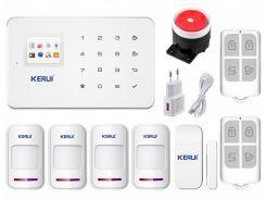 Беспроводная GSM сигнализация для дома, дачи, гаража комплект Kerui alarm G18 (House 4) 433мГц (DI513445395641)