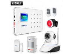 Комплект сигнализации Kerui alarm G18 с Wi-Fi IP камерой (DI513445395671)