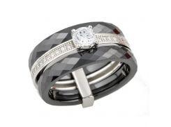 Серебряное кольцо Silver Breeze с керамикой 18 размер (0481685-18)