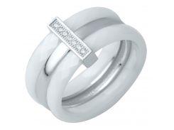 Серебряное кольцо Silver Breeze с керамикой 16 размер (0481791)