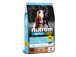 Сухой корм I18 Nutram Ideal Solution Support Weight Control с курицей, шлифованной ячменем и горошком, для взрослых собак склонных к ожирению, 11.4 кг