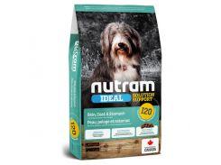 Сухой корм I20 Nutram Ideal Solution Support Sensitive для взрослых собак с проблемами кожи, шерсти или желудка, с ягненком и коричневым рисом, 11.4 кг