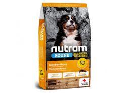 Сухой корм S3 Nutram Sound Balanced Wellness Puppy для щенков крупных пород, с курицей и овсянкой, 11.4 кг
