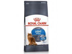 Корм для кошек Light Weight Care склонных к полноте Royal Canin Повседневный 10 кг
