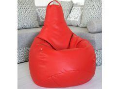 Кресло-мешок Beans Bag груша Экокожа 90*130 Красный (hub_TsEb30104)