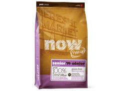 Беззерновой корм NOW Fresh Grain Free Senior Cat Recipe контроль веса - для кошек с индейкой, уткой и лососем, 7.26 кг