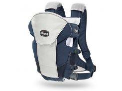Эрго нагрудная рюкзак-кенгуру для младенцев Chicco Ultrasoft Magic Синий с серым (1120710703)