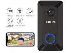 Беспроводной видеозвонок с датчиком движения и WI-FI Eken V6 Black Plus (2769)