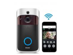 Беспроводной видеозвонок с датчиком движения и WI-FI Eken V5 Black Super (2768)