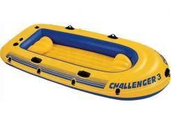 Лодка надувная Intex 68370 Challenger на 3 человека  Желтый (int68370)