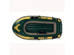 Лодка надувная Intex 68349 Seahawkна на 3 человека  Зеленый (int68349)