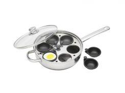 Пароварка для яиц KitchenCraft CV 6 яиц 28 см Серебристый (125231)