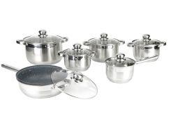 Набор посуды для кухни Rossner mm106t 12 предметов Серебристый (0026)