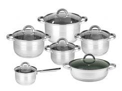 Набор кухонной посуды Rossner MP23 12 предметов Серебристый (0027)