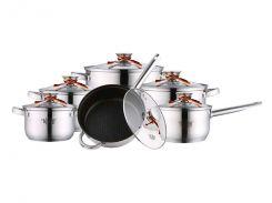 Набір посуду з нержавіючої сталі 12пр. (26-242-008) Krauff Сріблястий (96292)