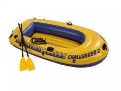 Лодка надувная Intex 68366 Challenger на 2 человека  Желтый (int68366)