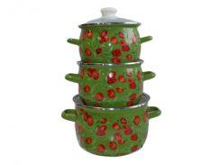Набір емальованого посуду ТМ Idilia №1600 Фан-фан тюльпан (339492)